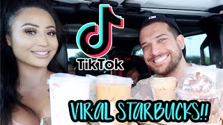 TRYING VIRAL TIKTOK STARBUCKS DRINKS!! **amazing**