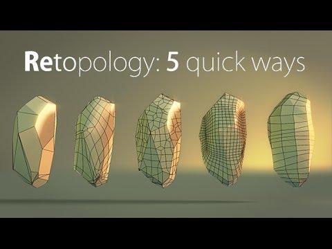Blender Quick tip №6  Retopology: creating stone pt 2 - YouTube