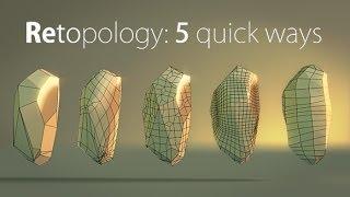 Blender Quick tip №6. Retopology: creating stone pt.2 Medium (360p)
