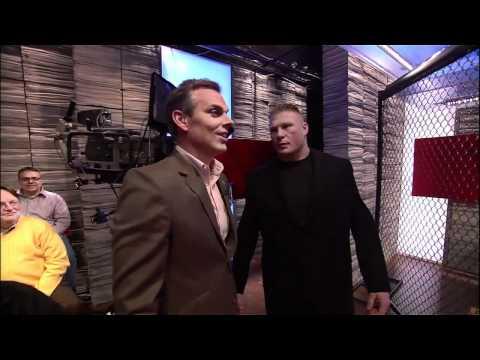 MMA Humor - Brock Lesnar Scares Reporter