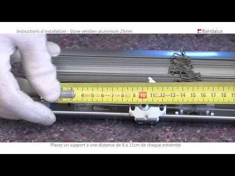Présentation store Vénitien aluminium 15/25mm