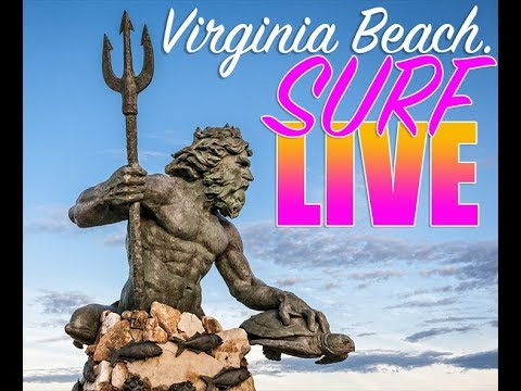 LIVE Surf Cam at Virginia Beach - Powered by Lithium Cycles Super 73