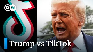 Trump says he'll ban China's TikTok video app in US | DW News