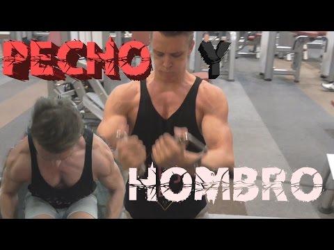 rutina de pecho y hombro para volumen