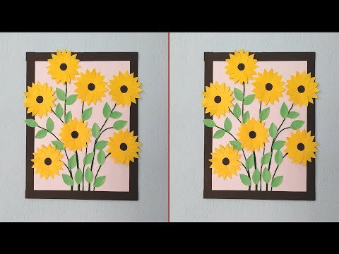 Beautiful paper flower wall decoration ideas|| wall hanging|| Paper crafts ideas at home