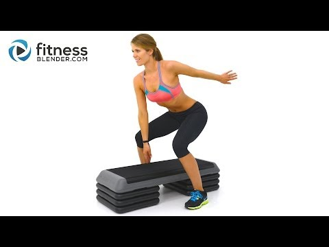 Fat Burning Cardio Step Workout for Butt and Thighs - Step Aerobics Workout Video