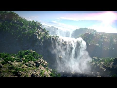 Breathtaking Waterfalls In Blender