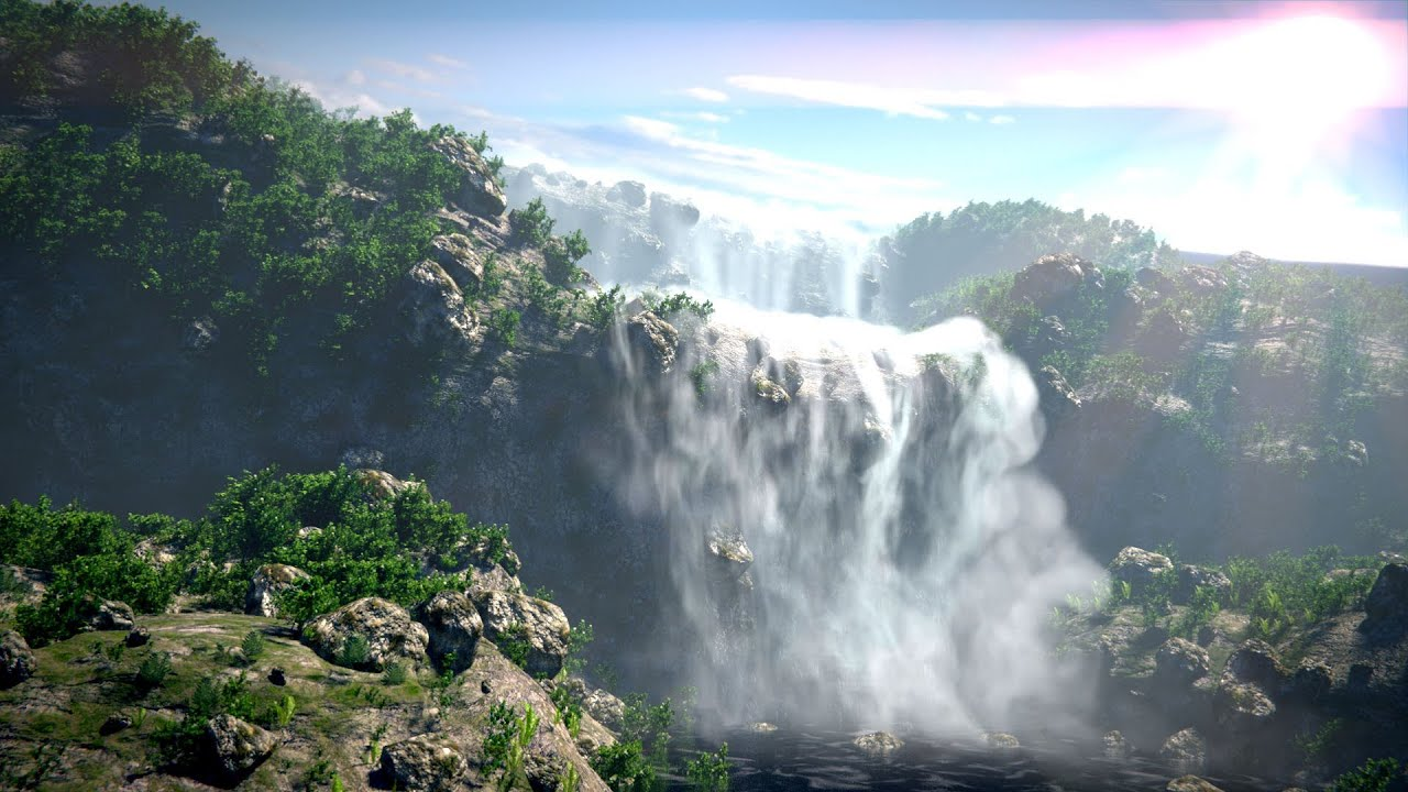Animated Waterfalls Wallpapers Free Download Breathtaking Waterfalls In Blender Youtube