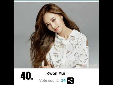 Top 40 Most Beautiful Kpop Idol 2017 Poll Youtube