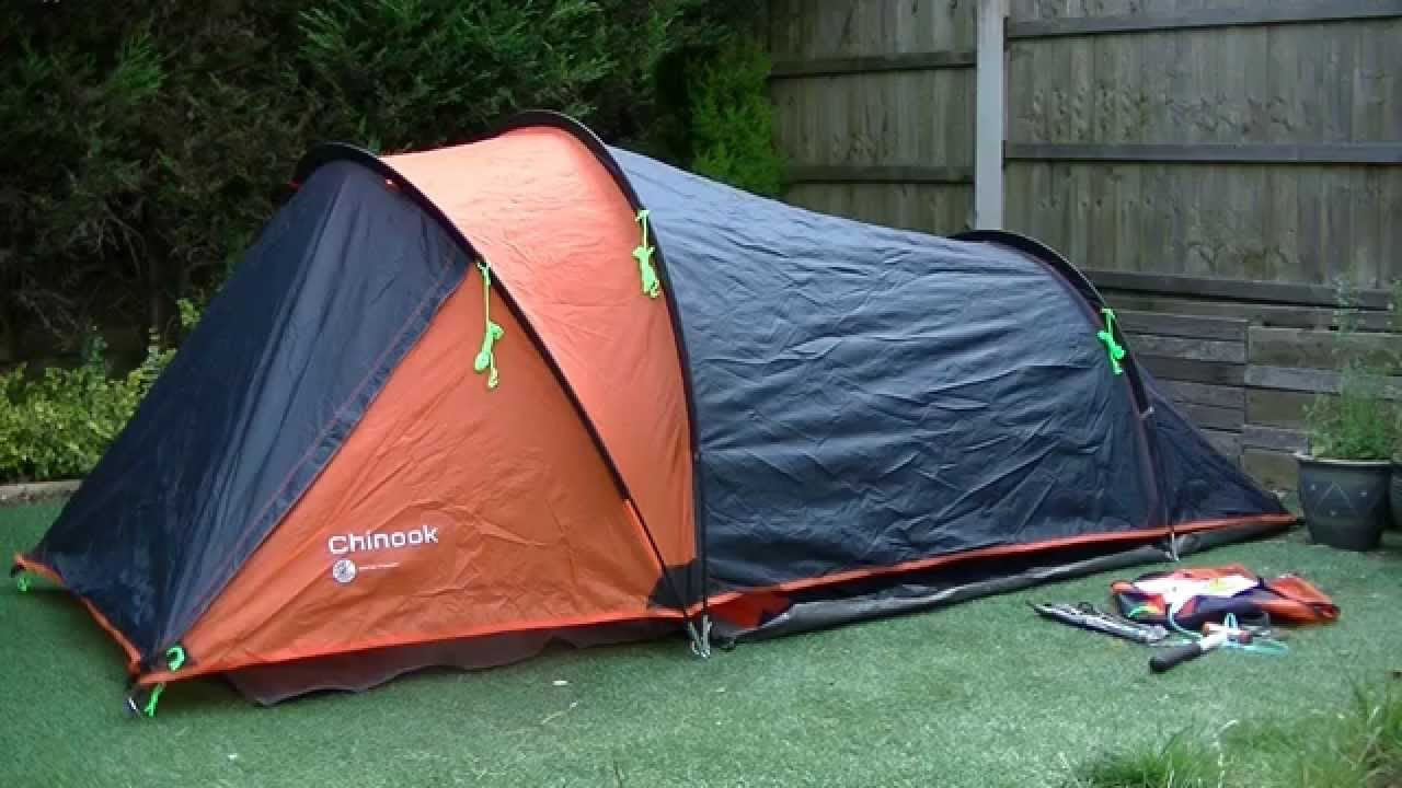 & Gelert Chinook 2 Tent with Porch - YouTube