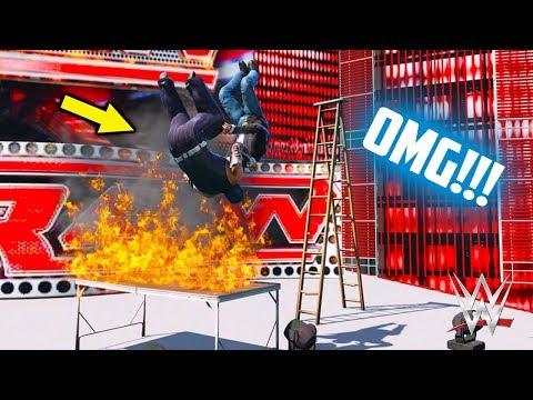 GTA 5 WWE HARDCORE TLC MATCH (GTA V WWE Mods)