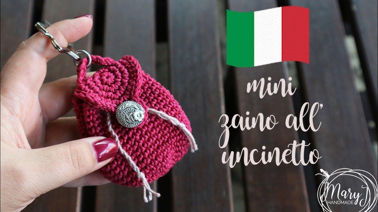 Mini Zaino All Uncinetto Portachiavi Maryj Handmade