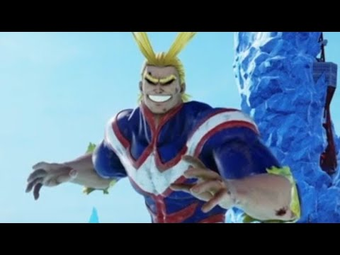 My first dlc character   jump force all might gameplay  
