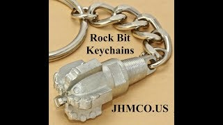 Oilfield Drill Rock Bit Keychain JHM#125 Collectible Souvenir