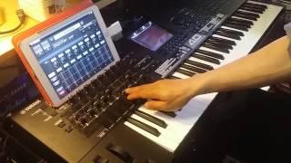 Yamaha Motif XF / Multi Editor App live mixing