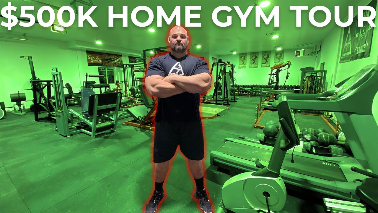 4X WORLD'S STRONGEST MANS $500K HOME GYM TOUR | Pt.6