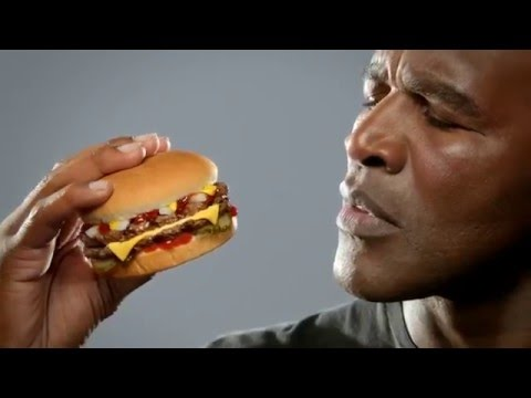 Carls Jr   $4 Real Deal Commercial with Evander The Real Deal Holyfield