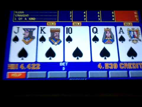 Live casino video poker slot win - Royal Flush