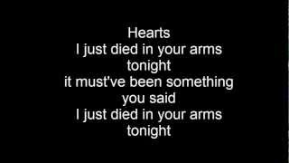 Just died in your arms Lyrics Cutting Crew