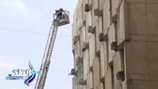 السيطرة على حريق مبنى تأمينات وسط القاهرة..فيديو و صور