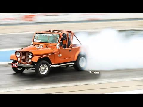 JEEPERS! 8SEC STREET LEGAL! WHEELS UP CJ7 JEEP! '15 WORLD POWER WHEELSTAND EVENT! BYRON!