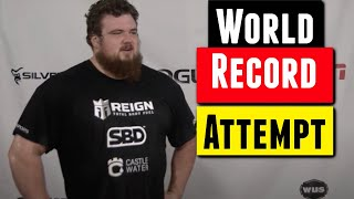 400KG Deadlift For Reps World Record Attempt by Trey Mitchell