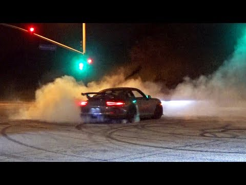 Porsche 911 GT3 Donuts and Exotic Car Burnouts!