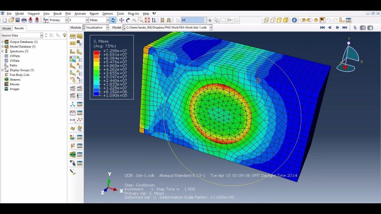 abaqus tutorial - thermal stress