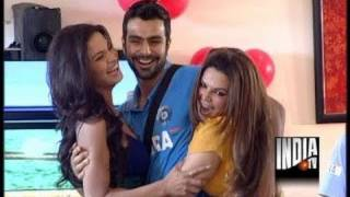 Veena Celebrates Birthday with Ashmit  In Bigg Toss (Part 1)
