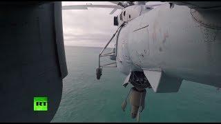 Экипажи противолодочных вертолётов СФ провели тренировки по поиску подводных лодок в Баренцевом море