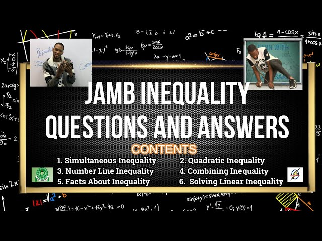 Jamb Inequality Past Questions And Answers | Mathematics 2021