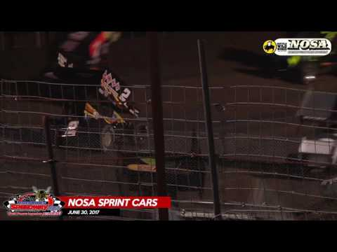 NOSA Sprint Car Highlights – June 30th, 2017 – River Cities Speedway