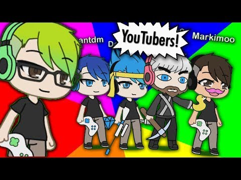 Creating YouTubers in Gacha life! (YouTubers with over 10 mill Subs edition)