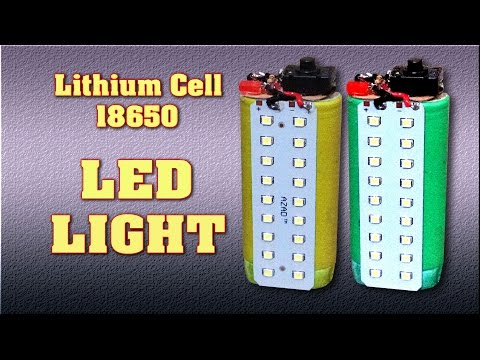 LED Light with Laptop Lithium Battery 18650 Rechargeable - How to make Emergency Light at home   DIY