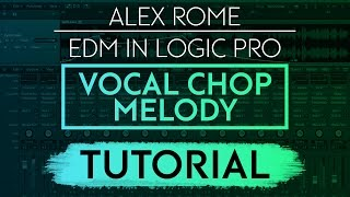 Simple EDM Beat with Vocal Chop Melody