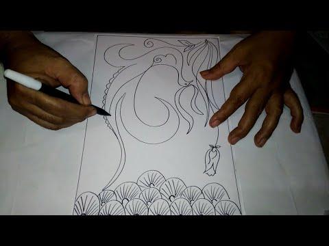 Cara Menggambar Sketsa Motif Batik Sketsa 4