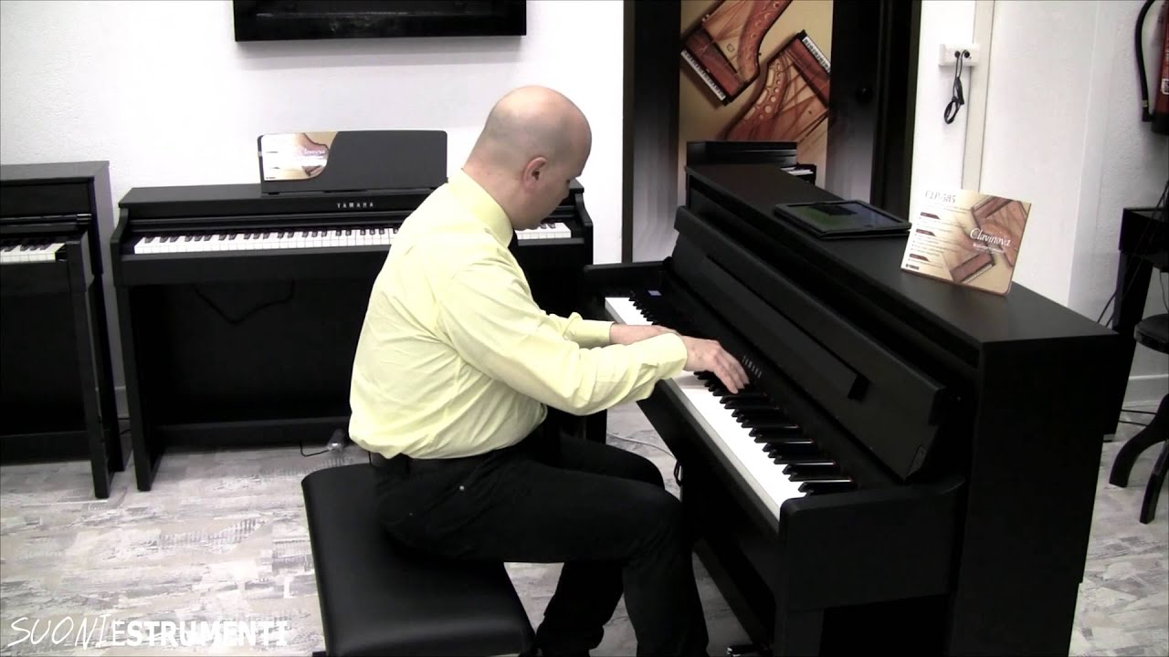 yamaha clavinova clp 585 overview youtube. Black Bedroom Furniture Sets. Home Design Ideas