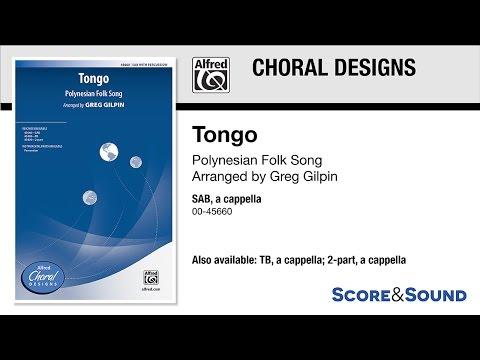 Tongo, arr Greg Gilpin – Score & Sound