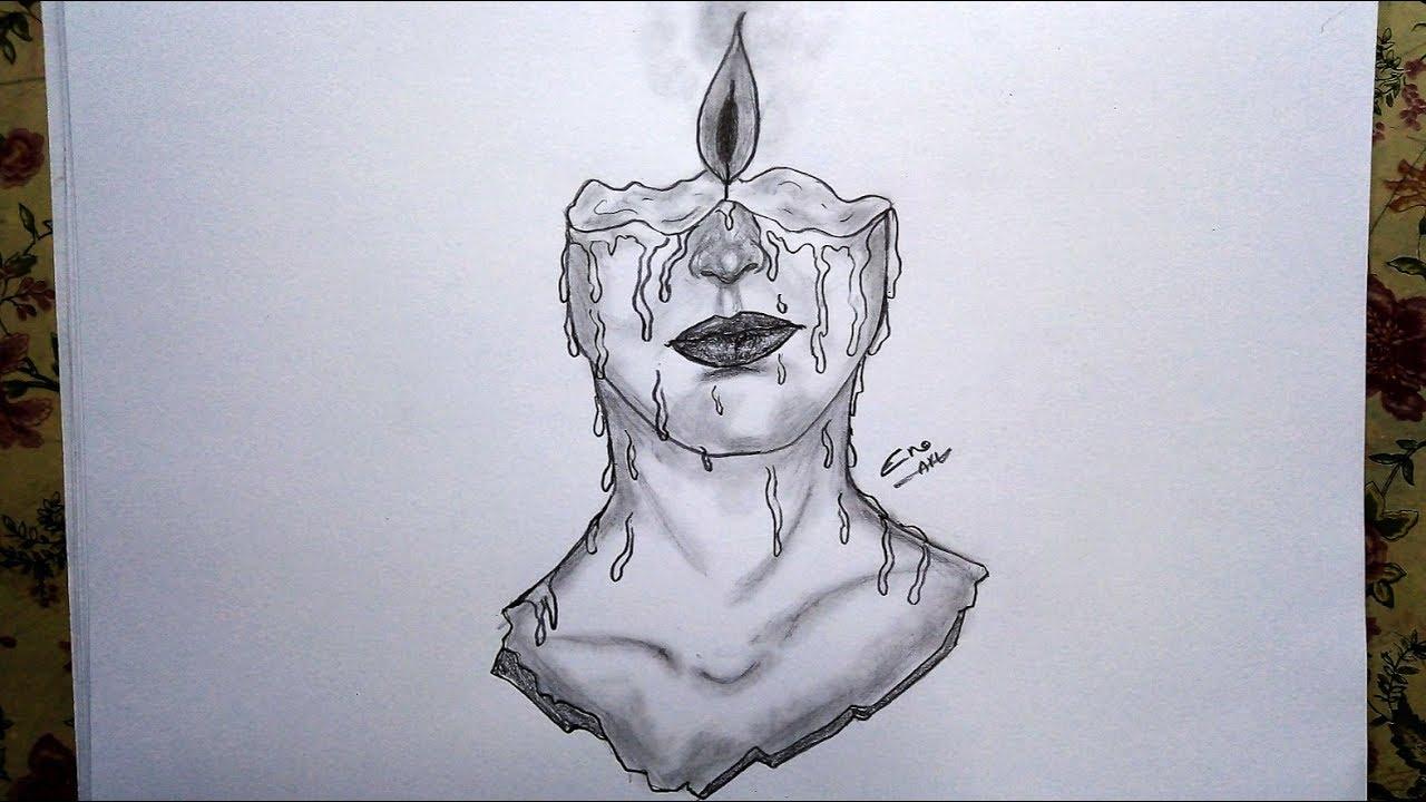 رسم سهل بالرصاص سلسلة الرسوم التعبيرية 7 Youtube