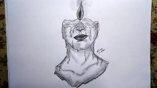 رسم سهل بالرصاص  ..  سلسلة الرسوم التعبيرية #7