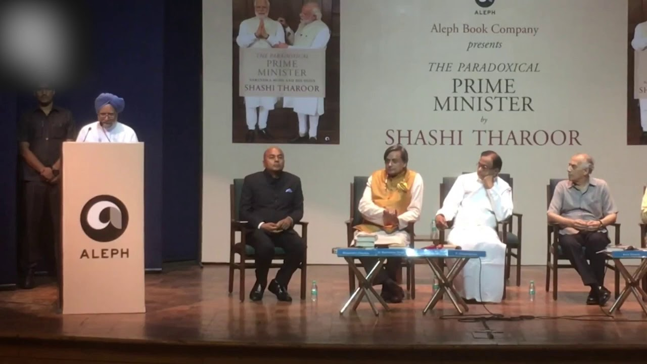 Former Prime Minister Manmohan Singh Speaking At The Launch Of
