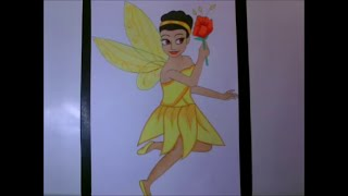 Draw Iridessa from Tinker Bell movie (speed drawing)