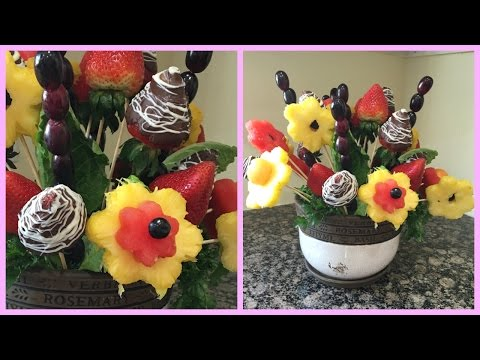 How to make Edible Fruit Bouquet Arrangements