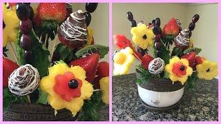 How to make Edible Fruit Bouquet Arrangements