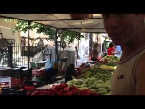 Greek Man In Kozani's Laiki Market- Macedonia