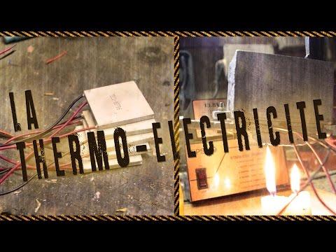 La thermo-électricité -  énergie thermique et module Peltier