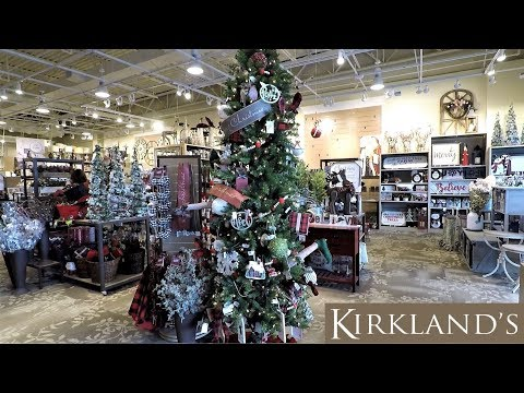 KIRKLAND'S CHRISTMAS 2018 - CHRISTMAS SHOPPING ORNAMENTS DECORATIONS HOME DECOR 4K