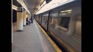 R68A (B) & R160 (Q) Trains at Church Avenue