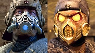 MORTAL KOMBAT X Tundra Sub-Zero & Kold War Scorpion Fatalities Brutalities Stage Fatality Gameplay