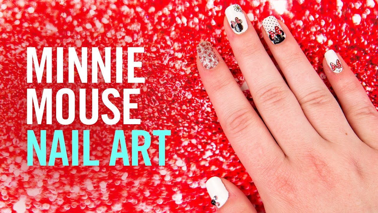 How to create minnie mouse nail art tutorial tips by disney how to create minnie mouse nail art tutorial tips by disney style prinsesfo Image collections